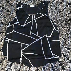 DKNY Scoop Neck Blouse (no sleeve)